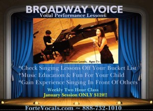 Broadway Voice Singing Lessons